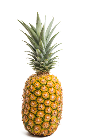 big ripe pineapple isolated on white background Zdjęcie Seryjne