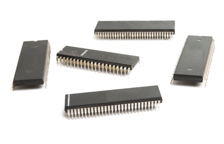 IC chip isolated on white background
