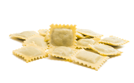 ravioli isolated on white background 写真素材