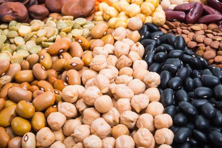 set of legumes isolated on white background