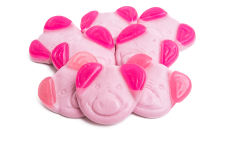 candy piglets isolated on white background