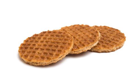 Dutch waffles isolated on white background 版權商用圖片
