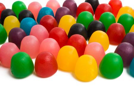 jelly fruit candy isolated on white background Stock Photo