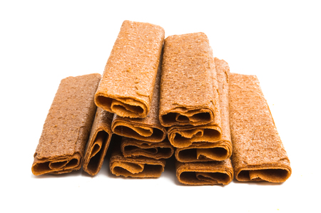 crunchy biscuit isolated on white background Banco de Imagens