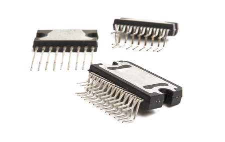 microcircuit isolated on white background
