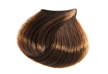 ciocca di capelli colorata isolata su sfondo bianco Archivio Fotografico
