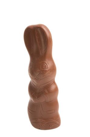 chocolate bunny isolated on white background