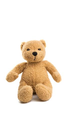 soft bear isolated on white background