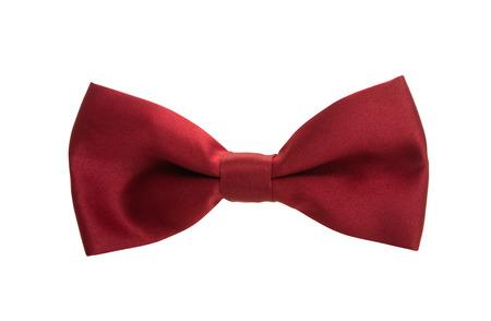 Herren Krawatte Schmetterling isoliert auf weißem Hintergrund Standard-Bild