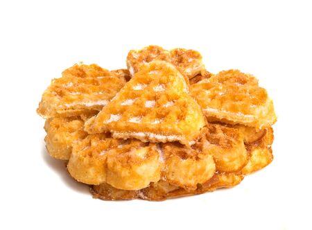 swiss waffles isolated on white background