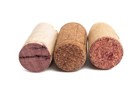 wine corks isolated on white background Archivio Fotografico - 125132631