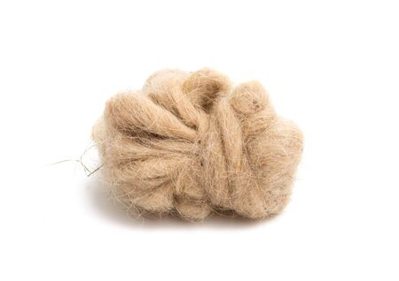 sheep wool isolated on white background