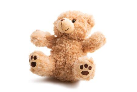 soft toy bear isolated on white background Reklamní fotografie
