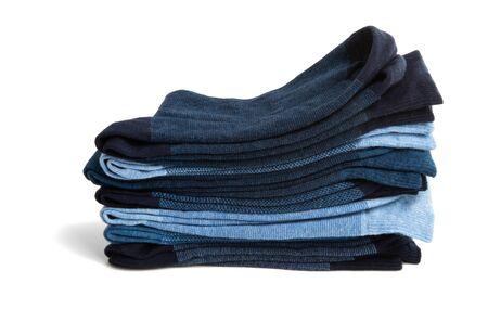 set of men's socks isolated on white background