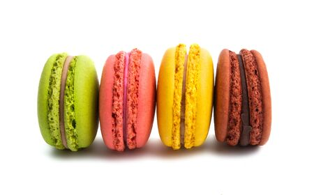 macaroon isolated on white background 免版税图像