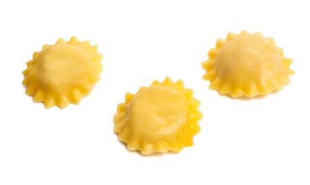 italian ravioli isolated on white background Imagens