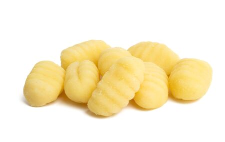 potato gnocchi isolated on white background Imagens