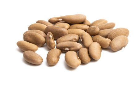 dry beans isolated on white background