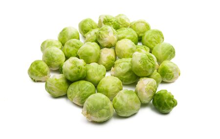 brussels sprouts isolated on white background Foto de archivo - 133489682