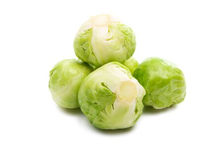 brussels sprouts isolated on white background 版權商用圖片