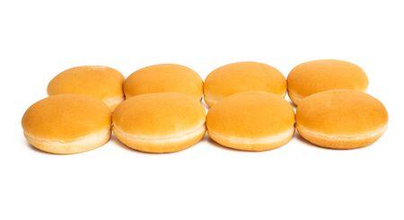 hamburger buns isolated on white background Reklamní fotografie - 133489684