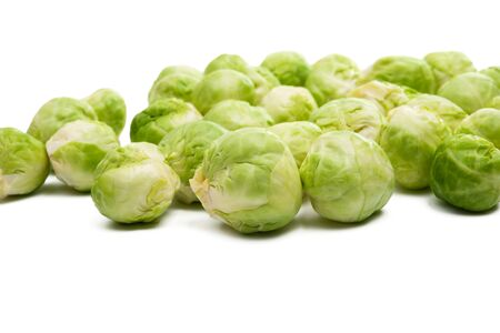 brussels sprouts isolated on white background Foto de archivo - 133489712