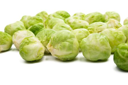 brussels sprouts isolated on white background Foto de archivo - 133489723