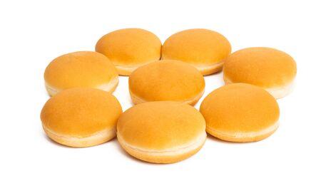 hamburger buns isolated on white background Reklamní fotografie - 133489744