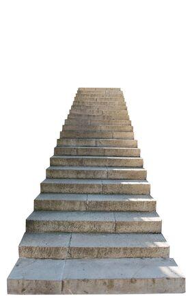stone steps isolated on white background