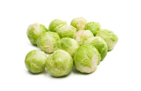 brussels sprouts isolated on white background Foto de archivo - 133489830