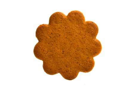 flower cookie isolated on white background