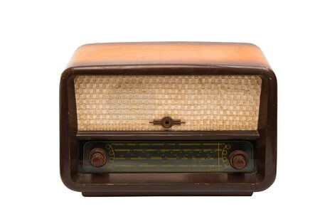 retro radio isolated on white background 免版税图像