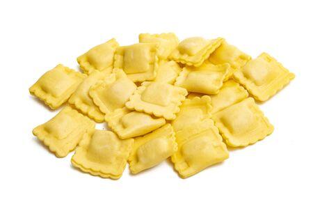 italian ravioli isolated on white background
