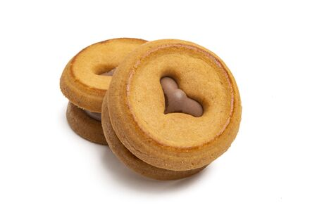 cookies with a heart Isolated on a white background