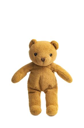 soft toy bear isolated on white background Foto de archivo