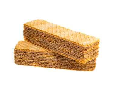 waffles isolated on white background