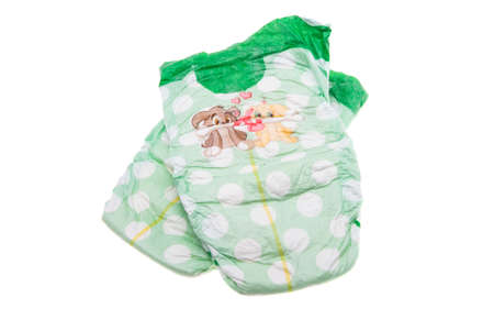 baby diapers isolated on white background