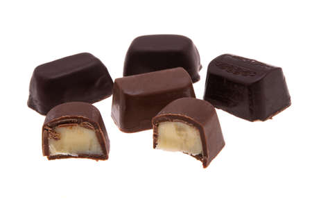 chocolate candy isolated on white backgroun