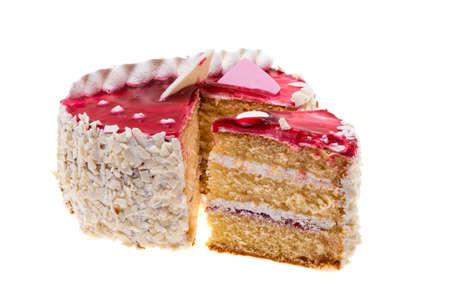 sponge cake isolated on white background Zdjęcie Seryjne