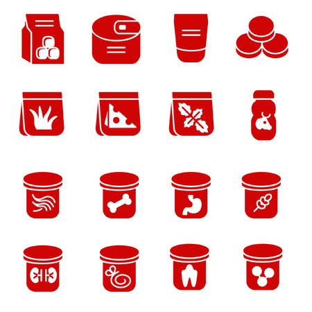 glyph: Food stuff for cat as glyph icons