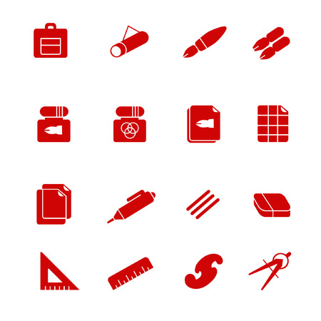 drafting: Stuff for drafting as glyph icons Illustration
