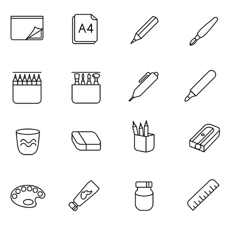 thickness: There are some types of stuff for drawing and painting