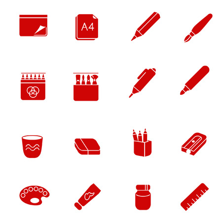 thickness: Stuff for art as glyph icons Illustration