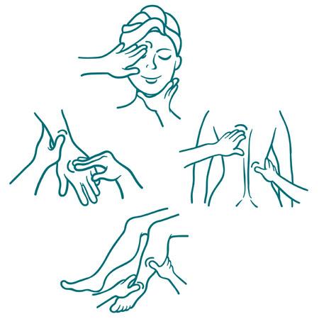 Masaje como un conjunto de conducciones de procedimiento médico