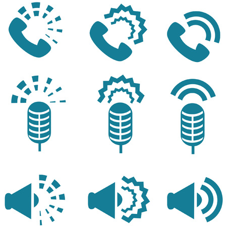 not working: Types of sound from devices icon set