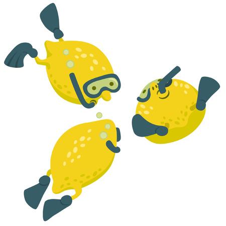 flippers: Limón en el salto de estilo de dibujos animados