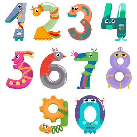 numbers: Numbers like robots
