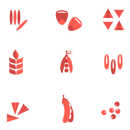 flax seed: Cereals and seed flat icons