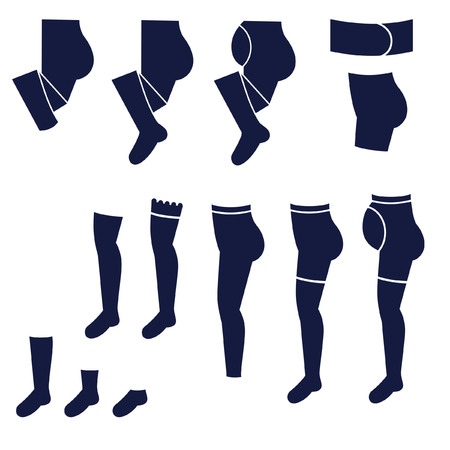 knee sock: Different types of womens socks, tights and stockings