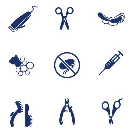 pet services: Services for pet icons set